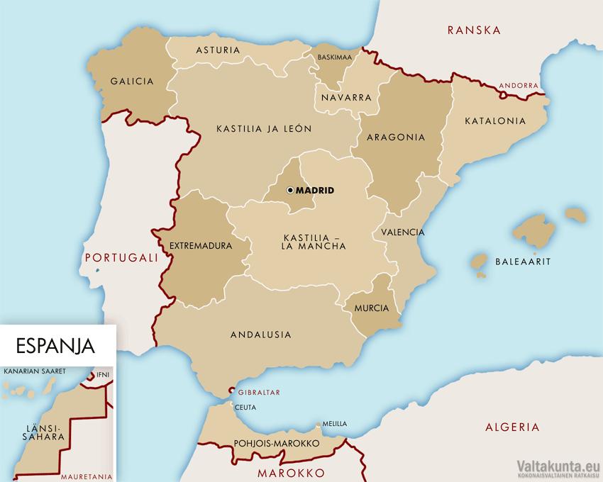 Espanja Maakunnat